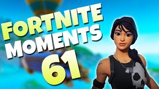 EXTREMELY RARE FLOATING HAIR GLITCH!! (FUNNY BUG) | Fortnite Daily Funny and WTF Moments Ep. 61