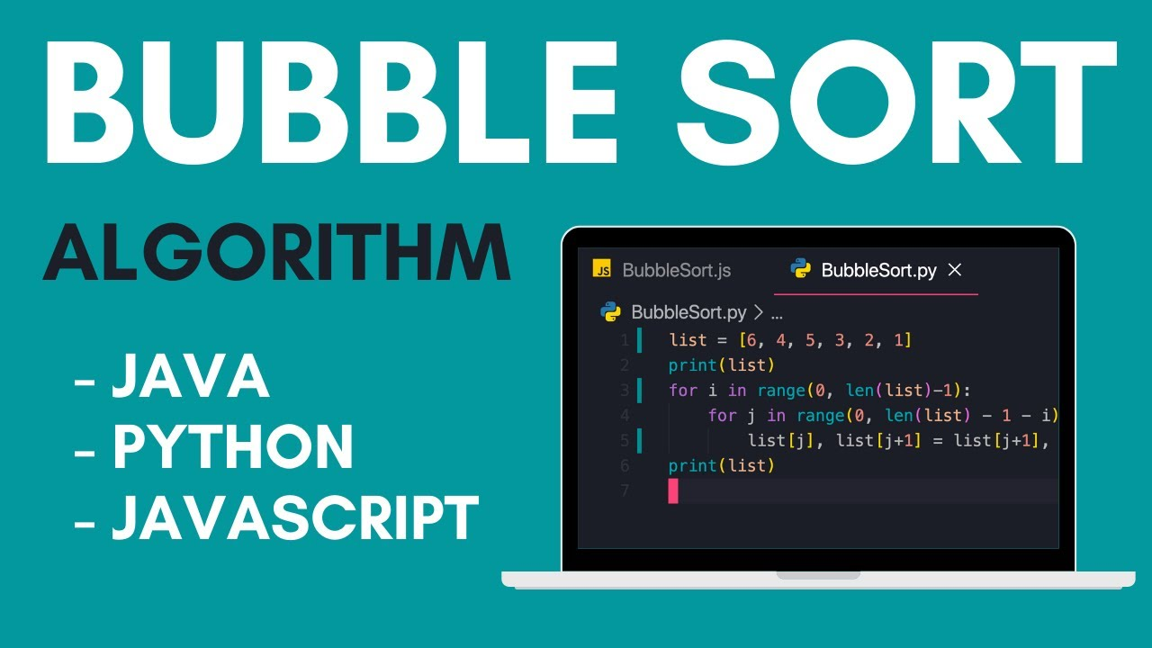 Bubble Sort Algorithm | Java | Python | Javascript