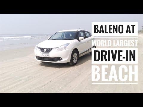 BALENO♥ at Worlds LARGEST driving Beach | world around me♥