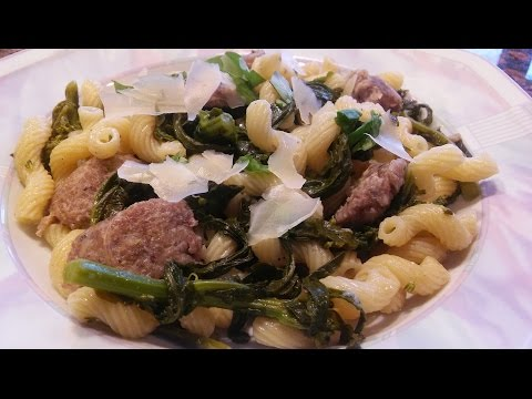 How To Cook Broccoli Rabe(using Part Stems As Well), Sausage And Pasta Recipe