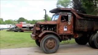 1955 Euclid Dump Truck Driving ATCA Macungie Truck Show 2013