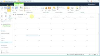 Create A Calendar List in SharePoint