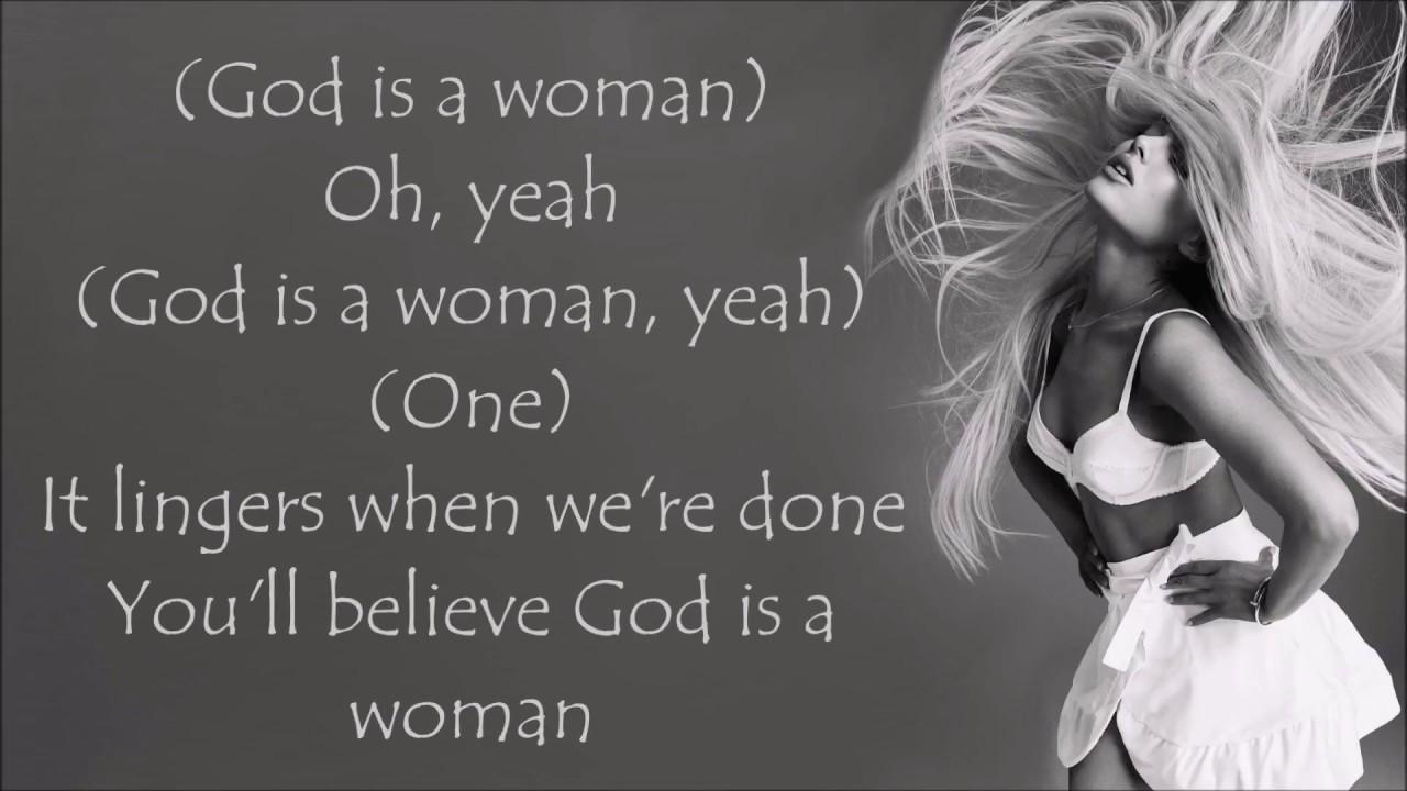 ariana grande god is a woman lyrics youtube
