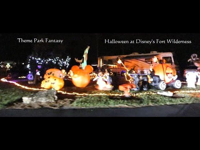 Halloween Decorations at Disney's Fort Wilderness Campground