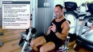 Méthode pré - post fatigue avec isométrie pour les cuisses (leg extension, squat et chaise)
