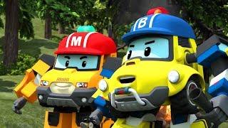 Робокары - Рой и пожарная безопасность - Страшный лесной пожар + Остановись, упади и перекатись!