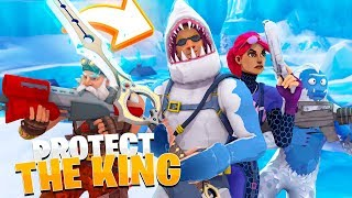 PROTECT THE KING *custom Game* IN FORTNITE w/ Little Kelly | Sharky Fortnite