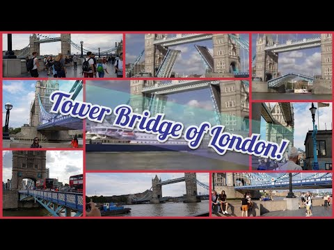 Tower Bridge Of London! Bridge Opening And Closing Of Cruise. Part 2!