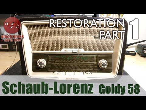 Schaub-Lorenz Goldy 58 type 3020 tube radio restoration - Part 1. First look and initial power-up.