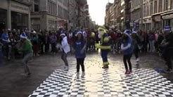 Ryanair Christmas Flashmob Glasgow City Centre Dec 18 2011