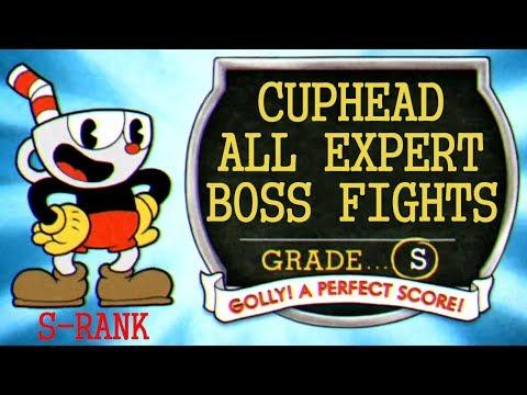 CUPHEAD: ALL EXPERT BOSSES S-RANK [ 31:55, PERFECT RUN, NO DAMAGE ]
