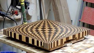 Making 3D end grain cutting board #13