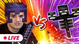 ENFRENTANDO O WITHER NO MINECRAFT - LIVE!