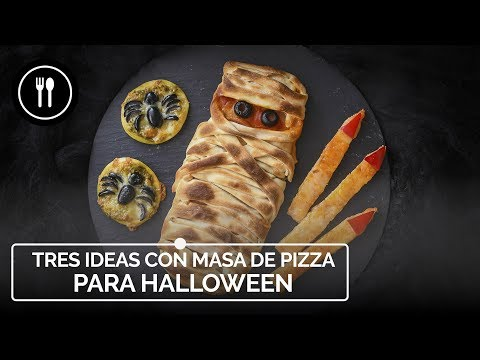 Tres ideas fáciles y rápidas para HALLOWEEN con una MASA DE PIZZA