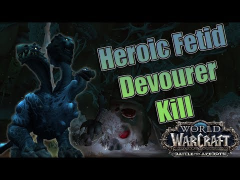 Battle for Azeroth - Heroic Uldir Fetid Devourer Kill! Affliction Warlock POV