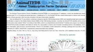 AnimalTFDB for curated transcription factor information