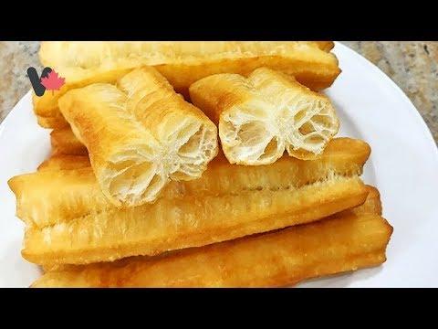 Bánh Dầu Chảo Quẩy – Bánh Dầu Cháo Quẩy đơn giản dễ làm tại Canada – Deep Fried Breadsticks