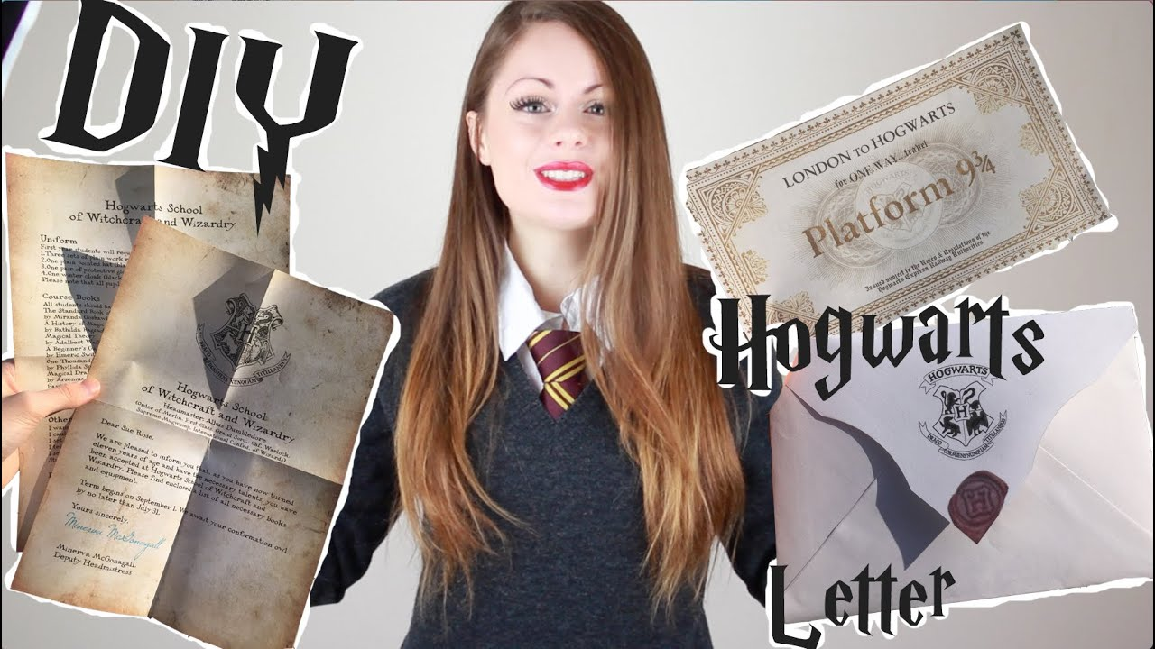 Diy Hogwarts Letter Harry Potter Halloween Diy 2015
