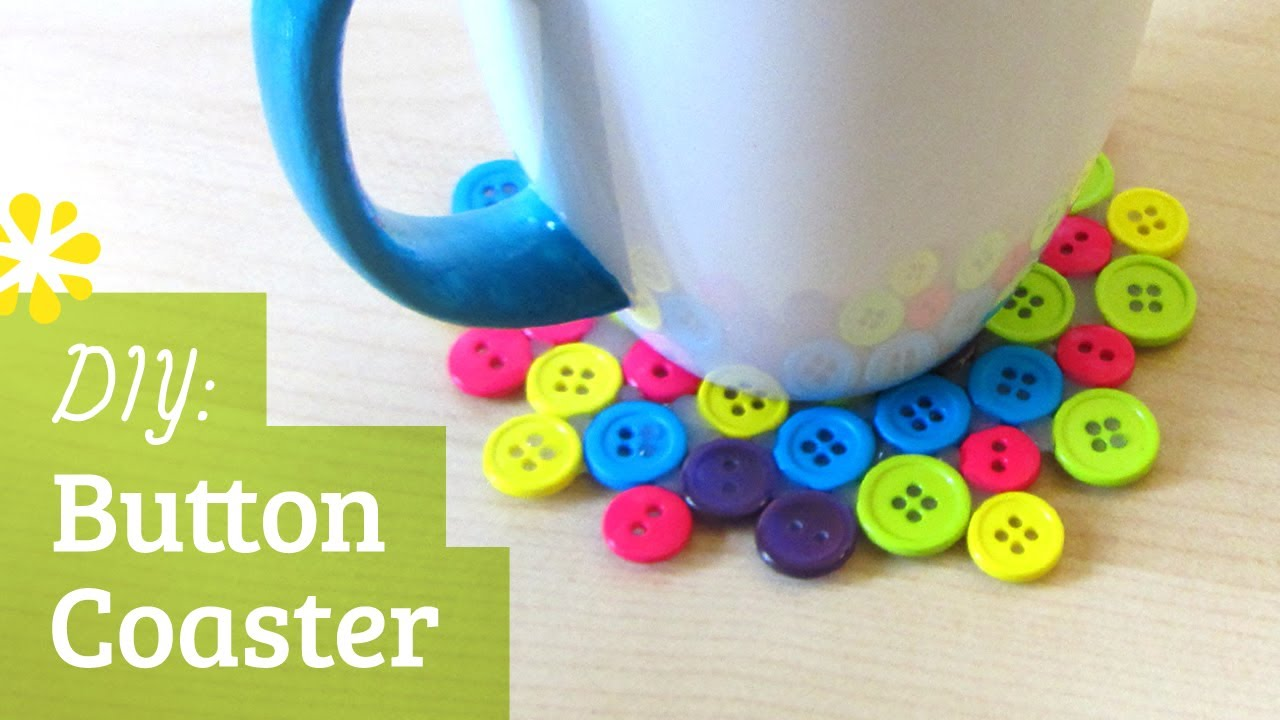 Diy Button Drink Coaster Sea Lemon Youtube