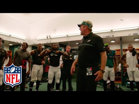Philadelphia Eagles Locker Room Speech & Celebration | Browns vs Eagles | NFL