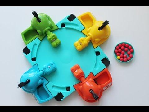 Настольная игра Голодные бегемотики Hasbro Хасбро (Hungry Hippos) видео