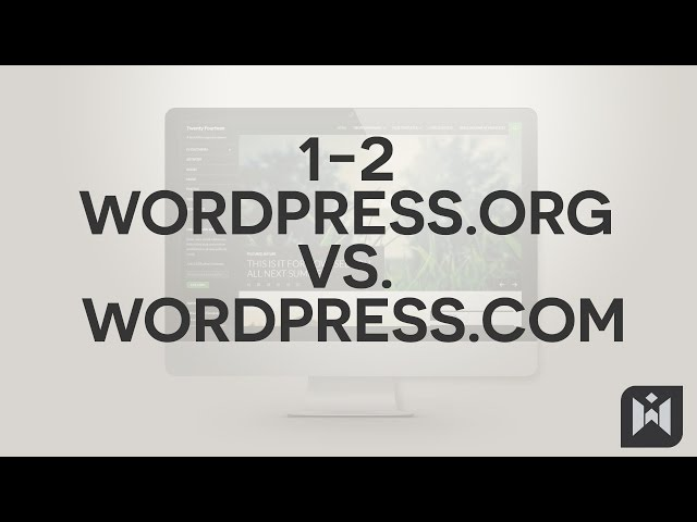 WordPress for Beginners 2015 Tutorial Series | Chapter 1-2: WordPress.Org vs WordPress.Com