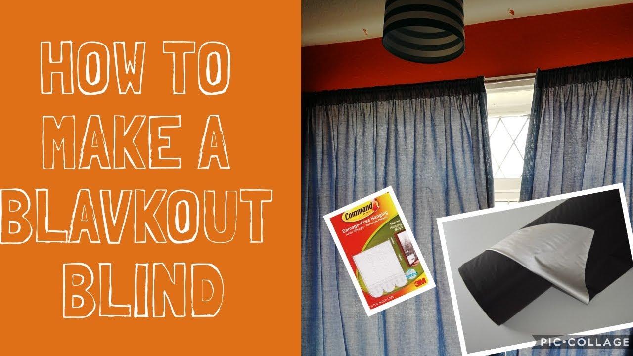 DIY BLACKOUT BLIND/ EASY BLACKOUT BLIND HACK/ travel blackout blind