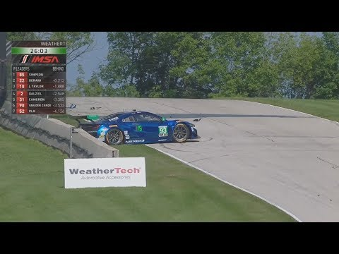 IMSA WeatherTech SportsCar Championship 2017. Road America. Andy Lally Crash