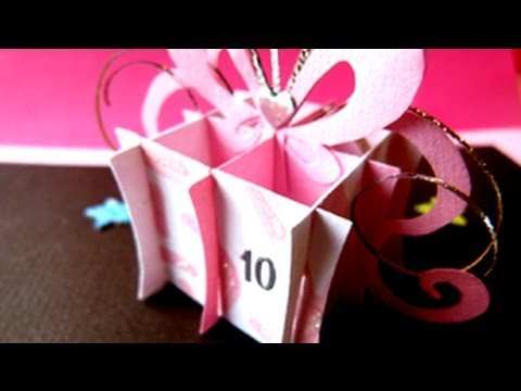 birthday present gift box pop up card youtube