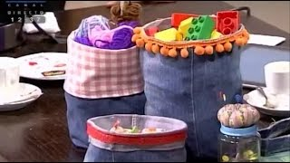 Fazer saquinhos a partir de calças de canga – Costura com Riera Alta