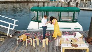 The SWEETEST proposal with Alex + Dylan. Congrats to this beautiful couple!