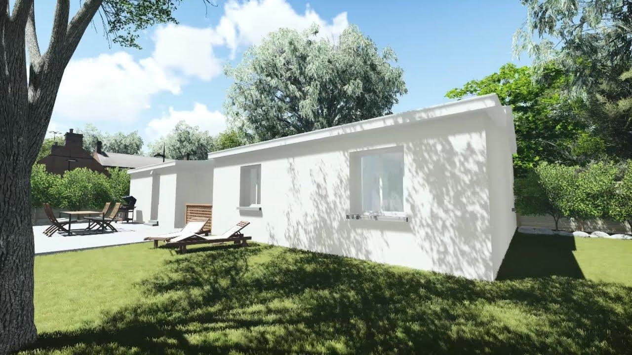 lumion transformation et agrandissement d 39 un garage en. Black Bedroom Furniture Sets. Home Design Ideas