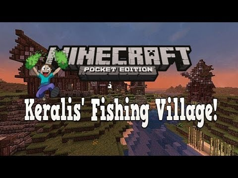 Minecraft pe keralis fishing village for How to fish in minecraft pe