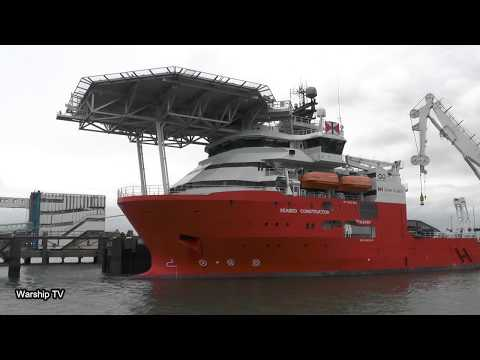 NORWEGIAN OFFSHORE SUPPLY SHIP MV SEABED CONSTRUCTOR AT PORT