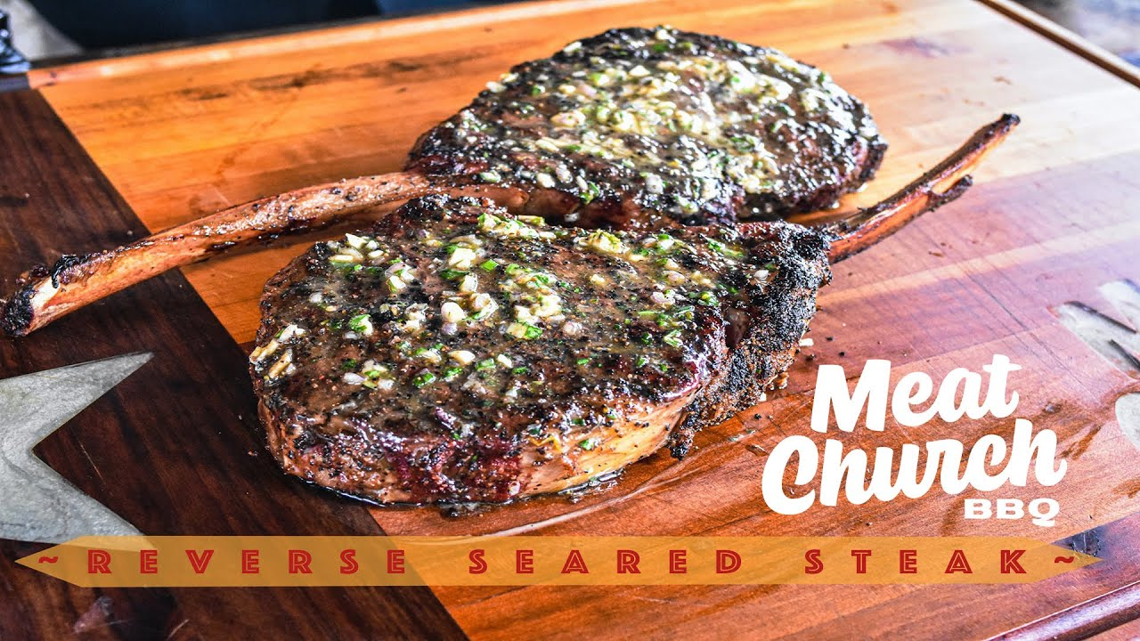 Download Reverse Seared Steak with Homemade Compound Butter