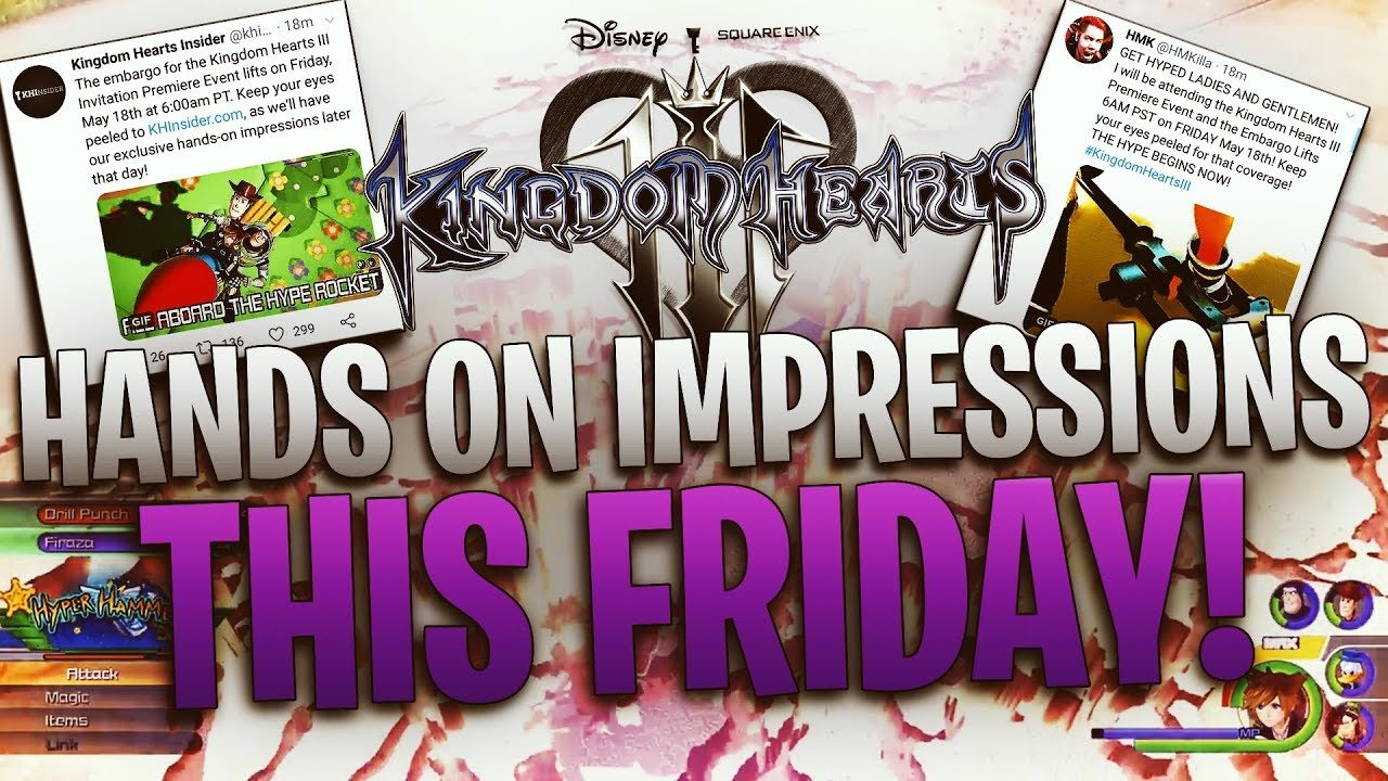 Kingdom Hearts 3 - Embargo Lifts on Friday For the Invitation Premiere  Event! Hands On Impressions!