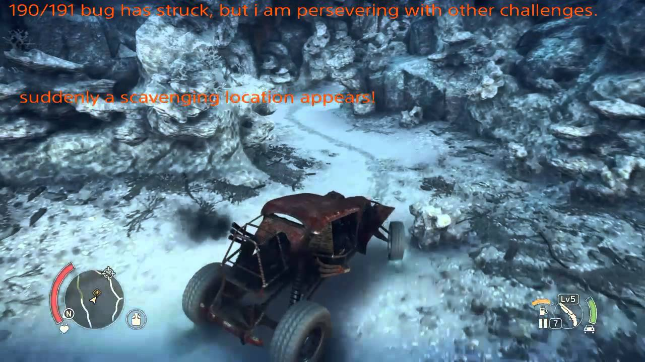 Mad Max Game 190191 Scavenging Location Bug Glitch Lucky Fix