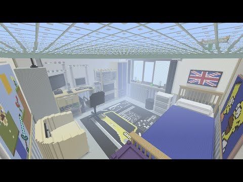 Minecraft Xbox - My Real Bedroom - 1 Block 1 Inch Scale