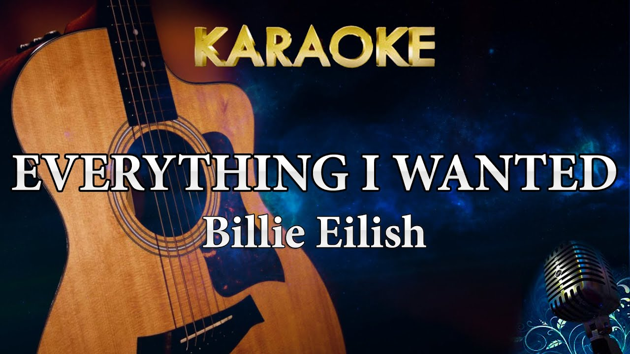 Billie Eilish - everything i wanted (Acoustic Guitar Karaoke Instrumental)
