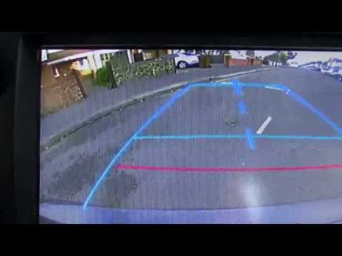 Parallel Park Toyota Yaris with reversing camera. Driving test manoeuvre.