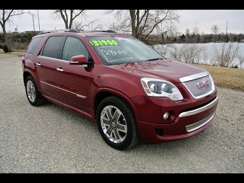 Gmc Acadia Denali For Sale >> 2011 Gmc Acadia Denali Red Jewel Tintcoat For Sale Dealer Dayton Troy Piqua Sidney Ohio Cp13813t