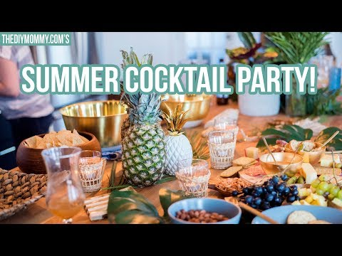 Summer Cocktail Party Ideas | Tiki Inspired Recipes & Decor