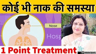 Common Nose Problems Solution In Hindi by Single Acupressure Point