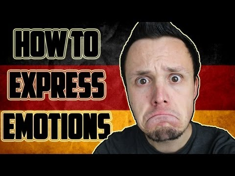 How to express emotions in German