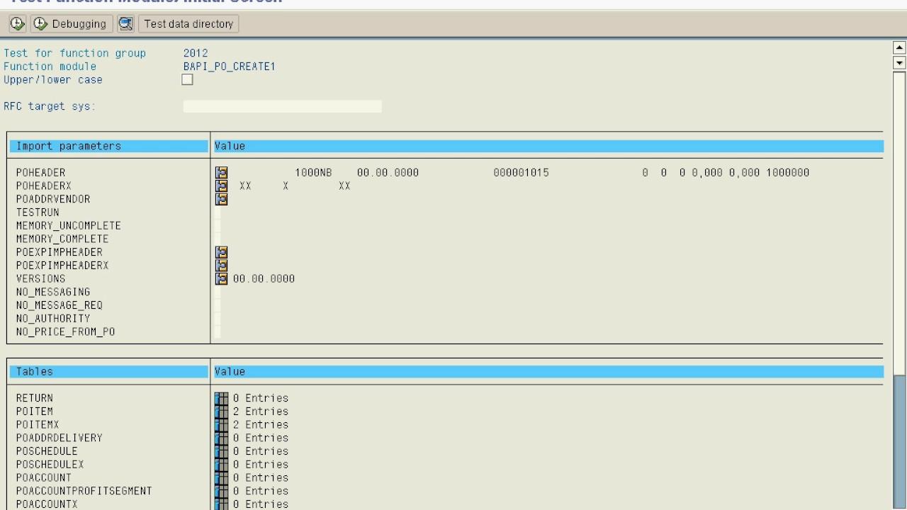 SAP ABAP - BAPI Example BAPI_PO_CREATE1 (w/o voice)