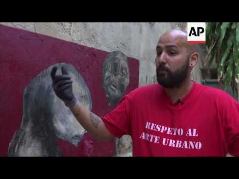 Cuban graffiti artist makes his mark in Havana