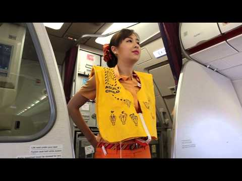 Thai Smile A320 safety demonstration video