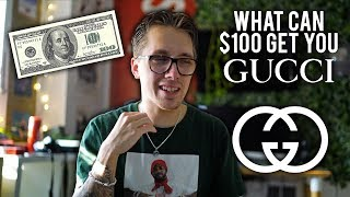 WHAT CAN $100 GET YOU FROM GUCCI?