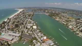 drone flyover sunset beach treasure island fl