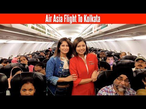 Air Asia Flight To Kolkata | Travel In New Delhi - Kolkata Air Asia I5 550 Full Tour | Flight Vlog